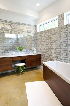 16 Beautiful Mid-Century Modern Bathroom Designs That Are Simply Flawless - Salle de Bains 01 Mid Century Modern Bathroom, Modern Bathroom Design, Bathroom Interior Design, Bathroom Designs, Bathroom Ideas, Bathroom Styling, Bath Design, Bath Ideas, Bathroom Lighting