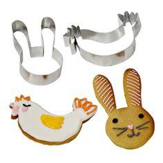 Funny Bunnies Cookie Cutters Meri Meri