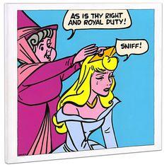 Limited Edition Disney Fine Art Pop! ''Suck It Up'' Sleeping Beauty Giclée on Canvas