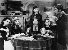 """""""Little Women"""" 1949 Margaret O'Brien (Beth), Elizabeth Taylor (Amy), June Allyson (Jo), Janet Leigh (Meg), Peter Lawford (Laurie) Old Hollywood Actors, Golden Age Of Hollywood, Classic Hollywood, Louisa May Alcott, Elizabeth Taylor, I Dream Of Genie, June Allyson, Peter Lawford, Janet Leigh"""