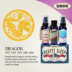 NEW YEAR! NEW YOU! When Dragon meets Monkey Dragon can win the very highly respect from Monkey. A dragon has good management skill when it comes to organization. Hardworking dragons should strike a healthy balance between work and rest. Use skin care products that work while you sleep! #KungHeiFatChoi #SnoeChineseNewYear #CNY2016 #YearoftheMonkey
