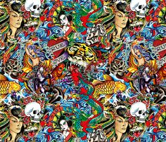 Ed Hardy Fabric Shop Preview 470x403 Iphone WallpapersChineseIphone Backgrounds