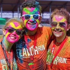 Best face paint fans we have seen! #FlavorHeart - #FlavorRun #LifeIsDeliciousTour #healthy #fitness #family #5k #running #colorrun #runnergirl #fit #delicious #fruit #flavolicious #flavored #colorpowder #flavor #run #fit #health #flavorrun5k #funrun #paintrun #colorrun #first5k #1st5k