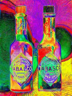 TABASCO SAUCE ///  Large Fine Pop-Art Giclee Print on Archival Etching Paper // Eisner, $25.00