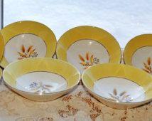 8 - Century Service Autumn Gold Berry or Dessert Bowls