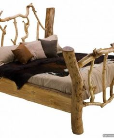rustic bed for the lake house cabin