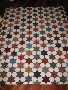 Old Stars Hexagon Quilt | Flickr - Photo Sharing!