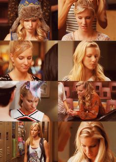 screencap meme  brittany pierce + looking down (asked by anon)