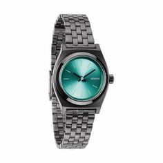 Nixon: The Small Time Teller gunmetal/light blue $95