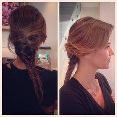 Beautiful fishtail plait hair. #weddinginspo  #londonbride #kent bride #surreybrides #weddings #londonwedding #kentwedding #hair #hairstyles #fishtail