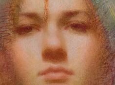 """Detail of """"Keri"""" pastel by Susan Lyon"""