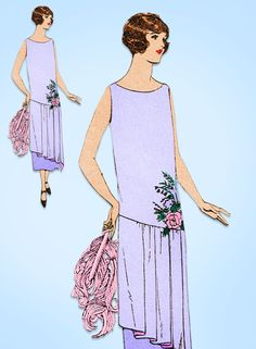 1920s VTG Ladies Home Journal Sewing Pattern 4513 FF Flapper Evening Dress 36 B #LadiesHomeJournal #FlapperFrock