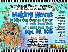 Orange Beach AL peeps, You are invited to participate in the Making Waves to Wipe Out Ovarian Cancer event put on by the Wonderful Wacky Women organization. It's a fun annual event put on by a group of fun women. Here's ...