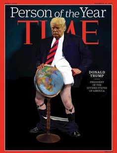 A guy with no principles or class, lies through his teeth, vulgar in actions & thought, throws the work to his sycophants, acts in a treasonous manner, he can only express himself in 140 characters, headstrong & idiotic, etc etc. He offers nothing except real dangers to the World!