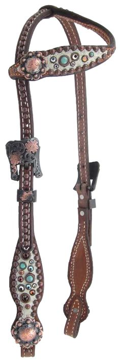 Heritage Brand One-Ear Headstall, put on horse's head to keep the bit in the horses mouth.