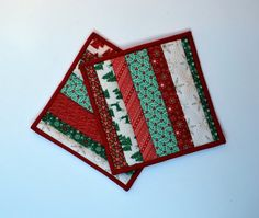 Cotton Quilted Potholders snackmats 25th and Pine by MonkeyMuffin