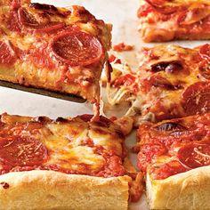 Pepperoni Deep-Dish Pizza Recipe