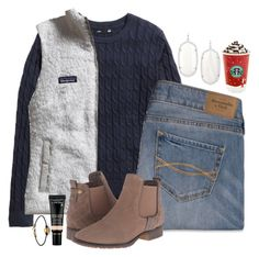 """""""Why Does It Feel So Good But Hurt So Bad"""" by hailstails ❤ liked on Polyvore featuring H&M, Patagonia, Abercrombie & Fitch, Steve Madden and Kendra Scott"""