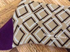 $35 Retail! $15.50 #SALE  Seaward & Stern Fine Mercersised Cotton Socks 9-11.5 Tan Geometric Style NEW #SeawardStern #Dress