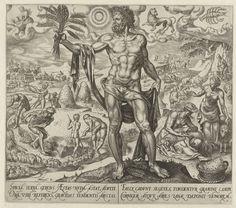 Zomer, Philips Galle, Hadrianus Junius, 1563