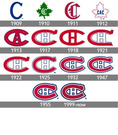The ice hockey team Montreal Canadiens has been remarkably consistent in its brand identity. Apart from minor updates, the Canadiens logo has preserved Hockey Logos, Hockey Quotes, Ice Hockey Teams, Hockey Players, Hockey Stuff, Montreal Canadiens, Canada, Retro Logos, Nhl