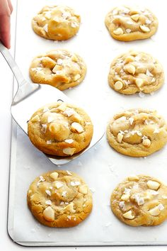 Salted White Chocolate Macadamia Nut Cookies