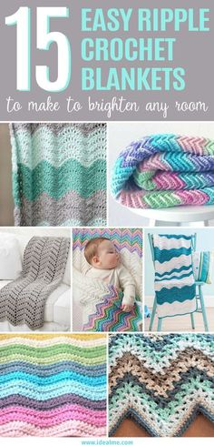 We've searched the web to find17 easy ripple crochet blanket designs. These distinctive patterns make a thoughtful gift and beautiful addition to any home.