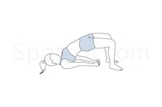 The bridge pose has a calming effect on the central nervous system and helps reduce stress, anxiety and insomnia. This pose stretches your chest, neck, spine and hips, massages your abdominal organs, and stimulates your endocrine system. http://www.spotebi.com/exercise-guide/bridge-pose/