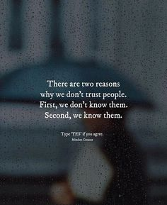 Positive Quotes :    QUOTATION – Image :    Quotes Of the day  – Description  There are two reasons why we dont trust people..  Sharing is Power  – Don't forget to share this quote !    https://hallofquotes.com/2018/03/19/positive-quotes-there-are-two-reasons-why-we-dont-trust-people/