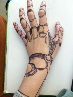 robot makeup hand - Google Search                                                                                                                                                     Plus