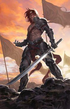 Level 9 Barbarian Fantasy Male, Fantasy Armor, Medieval Fantasy, Dark Fantasy, Fantasy Character Design, Character Concept, Character Art, Dnd Characters, Fantasy Characters