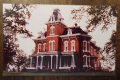 Picture Postcard of John Wright Mansion in Lyme Village near Bellevue, Ohio