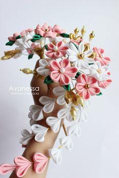 Kanzashi establece accesorios por Avonessa en Etsy