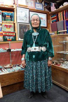 Navajo Silversmith - Mary Morgan.  Photo from Perry Null Trading Company
