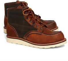 Brooks Brothers Exclusive Red Wing 4553 Oil Cloth Boots