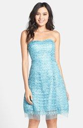 Hailey by Adrianna Papell Lace Fit & Flare Dress