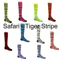 SAFARI - TIGER STRIPE SPORT SOCKS - YOUTH AND ADULT SIZES