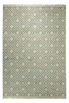 Blattschuss von Teppich Simple ESP-7012-02 in Grün.