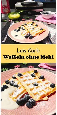 Low Carb Waffeln ohne Mehl mit nur 4,5 g KH pro Portion.