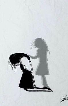Sad Art Alone Trendy Ideas Sad Drawings, Dark Art Drawings, Art Drawings Sketches Simple, Drawings Of Sadness, Sad Anime Girl, Anime Art Girl, Anime Girl Crying, Dark Art Illustrations, Illustration Art