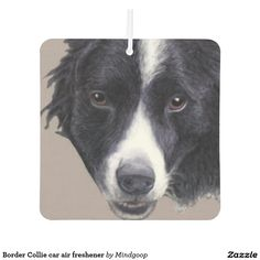 Border Collie car air freshener for dog owners