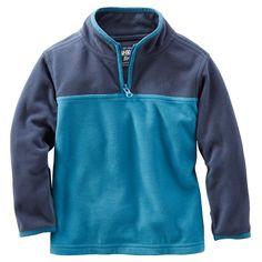 Baby Boy B'gosh Half-Zip Fleece Cozies | OshKosh.com
