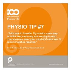 Take time to breathe. #physiotips $#100years