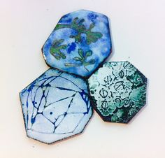 Enamel work by Anne Dinan