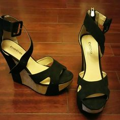 Black heels Worn a few times practically new bebe Shoes Heels