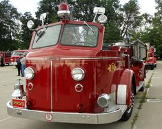 1955 American LaFrance, North Vernon Fire Dept, North Veron, IN. From Wayne Twp Fire Dept muster 2009