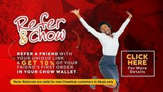 Go order now at ChowHub.com.ng  #OrderOnline #ReferAndChow #ChowHub #WorkWednesday