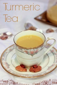 HealingTurmeric Tea - rich in antioxidants, detox and defend yourself during cold and flu season | ShesCookin.com
