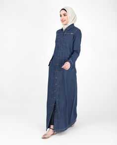 b935fa7ef3 It s not every day that you see a floor length modest denim Jilbab that is  so