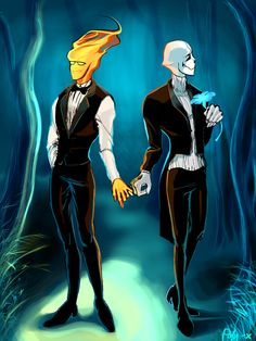 The Most Suave Couple Grillster Grillby Gaster Undertale